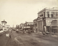Calcutta. Old Court House Street [looking north]